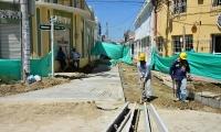 Avanza obra para peatonalizar Centro Histório de Ciénaga