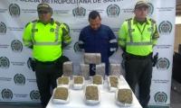 Edgar Yesid Bolaño Rodríguez, capturado con marihuana.