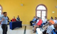 Reunión entre el alcalde Martínez y motociclistas de Santa Marta