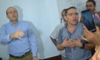 El alcalde Rafael Martínez y el exalcalde encargado Andrés Rugeles.