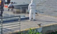 El CTI de la Fiscalía inspeccionó el cadáver.