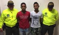 Alias 'Coco' y 'Chuky', capturados por la Policía Metropolitana de Santa Marta.
