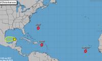 Ubicación de la Tormenta Tropical Karen en el Caribe, este martes en la mañana.