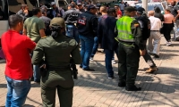 Captura de policías en Medellín