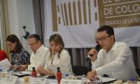 La sesión descentralizada de la Comisión de Ordenamiento Territorial del Senado, que se desarrolló este miércoles en la sede de la Cámara de Comercio de Santa Marta.