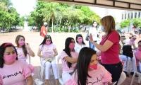 Lanzamiento de la campaña 'Octubre Rosa en Santa Marta'.