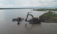 Las labores de dragado en la Isla Tamarindo están detenidas.