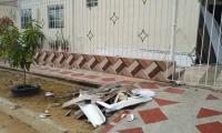 Una de las viviendas afectadas.