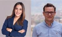 Alicia Peñaranda y Santiago Silva, panelistas invitados.