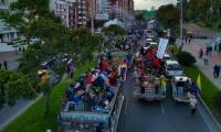 Llegada de la Minga a Bogotá.