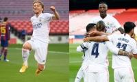 Real Madrid escaló provisionalmente a la cima del fútbol español con 13 puntos.