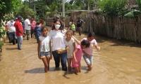 En El Retén también se han presentado inundaciones por el desbordamiento del río.
