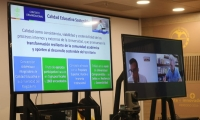 La jornada se desarrolló con encuentros de los pares con la Vicerrectoría Académica y de Investigación.