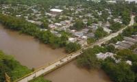 El río Fundación se desbordó y dejó a muchas familias damnificadas.