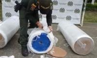 La Policía procedió a incautar 118 kilos del estupefaciente.