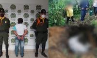 Las labores de policía evidenciaron como el hombre abrió un hueco en la tierra de un metro de profundidad al cual arrojó la yegua.