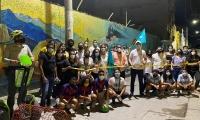Inauguración de los murales de Santa Marta.