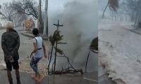 Imágenes de las afectaciones del Huracán IOTA en San Andrés.
