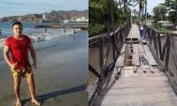 El joven, al parecer, se cayó de este puente el pasado domingo.