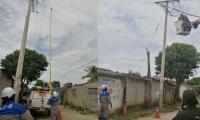 Transformador ilegal en Orihueca.