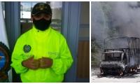 La comandante encargada del Gaula explicó cómo se dio la incineración del camión.