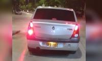 Carro que habría impactado a la mujer en la calle 30.
