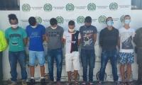 Presuntos miembros de 'Los Históricos'.