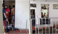 Cerca de 70 reclusos están detenidos en tres celdas.