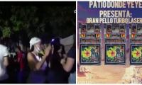 Solo una mujer se vio con tapabocas en las recientes rumbas que han organizado.
