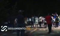 Hinchas del Unión Magdalena celebrando en Santa Marta.
