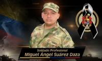 Miguel Suárez, soldado asesinado