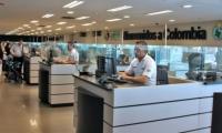 Migración Colombia en el Aeropuerto El Dorado.