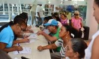 Inscripción de adultos mayores en Centro de Vida de Bastidas
