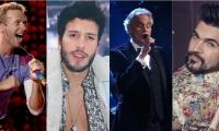 Artistas que participarán en el concierto.
