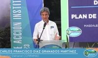 Carlos Francisco Díaz Granados, director de Corpamag, presidió la audiencia pública virtual.