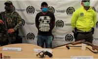 La persona capturada fue identificada como José Rafael Barón Mejía.