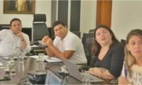 Participación del exalcalde en las reuniones de la doble calzada de El Rodadero.