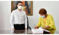 En la tarde de este miércoles el gobernador posesionó a Karlina Sánchez como jefe de la oficina de la Mujer y Equidad de Género.