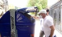 Limpieza de contenedores.