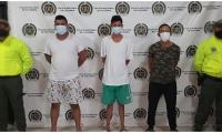 La Policía del Magdalena capturó en flagrancia a tres presuntos integrantes del grupo armado organizado Clan del Golfo.