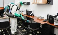Desinfección de oficinas de la Gobernación del Magdalena.
