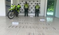 Carga de indugel incautada por la Policía.