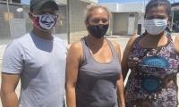 Ellos son algunos de los miembros de la familia afectada.