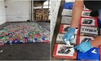 La droga estaba oculta en 72 cajas de cartón con manzanas.