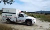 El levantamiento del cadáver en zona enmontada de Mamatoco.