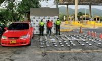 Ederson Stiven Rubiano Rendón, capturado en flagrancia por la policía de carreteras cuando se movilizaba por el sector de Neguanje.