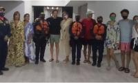 Estación de Guardacostas de Santa Marta lograron el rescate de 14 personas.