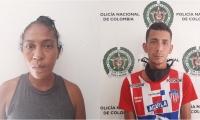 Yleana Yudith Monserat Rodríguez y Derian Jassir Rodríguez.
