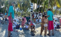 Asdrubal en la playa El Rodadero de Santa Marta
