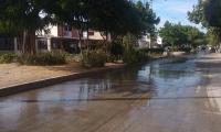 Así lucía La Concepción 3 con el derramamiento de agua potable.
